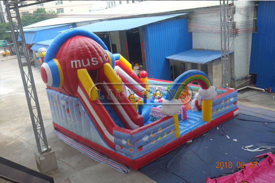 Inflatable Bouncer Fun City Amusement Park for Kids pictures & photos