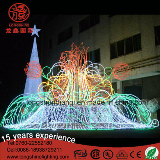 Christmas Outdoor Holiday Decoration 3D Fountain Motif Street Light