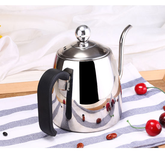 High Quality Food Grade 304 Shinny Stainless Steel Coffee Pot