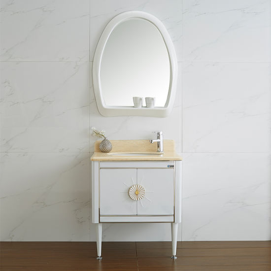 Customized Mondern Design Bathroom Wall Hanging Vanity Cabinet With Washing Basin And Mirror