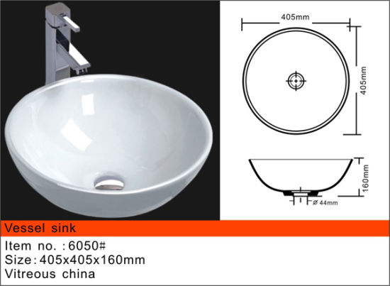 Vessel Sink Ceramic Wash Basin White And Black Gl6050