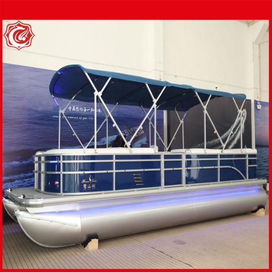 23FT Floating Double Deck Luxury Aluminum Pontoon Boat
