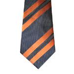 Wide Stripe Men's Woven Silk Necktie