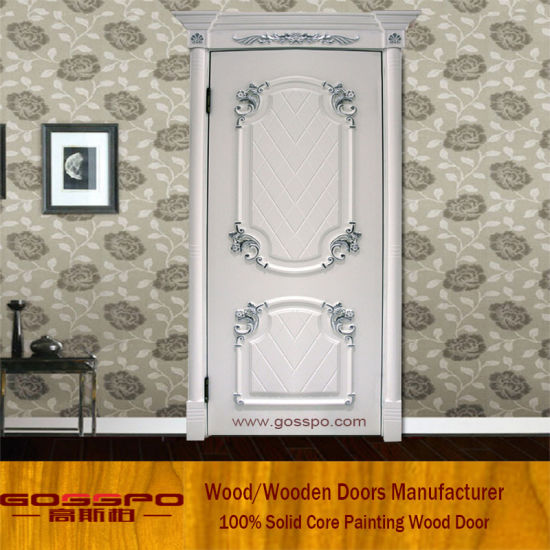 White Color Mdf Security Interior Room Door Gsp8 042