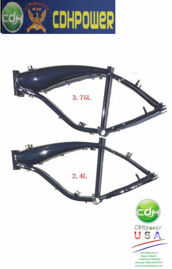 2.4L Bicycle Frame With Gas Tank Built, Alum Bike Frame