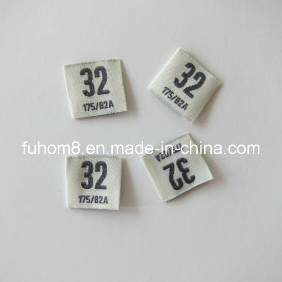 Customized Printing Clothing Woven Size/Care Label