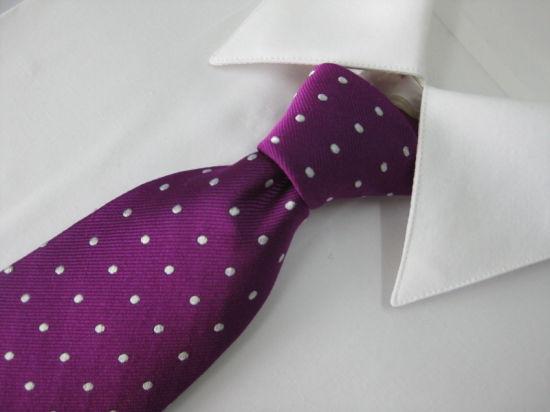 Men's Fashion DOT Design Woven Silk Necktie (