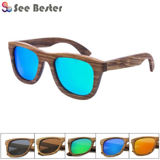 38a2782c8677 2018 Wholesale Bzebra Sunglasses Men Wooden Sunglasses Women Brand Designer  Original Wood Sun Glasses
