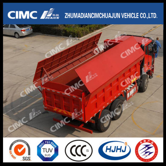 china hongyan iveco 6 4 dump truck with hydraulic cover china dump