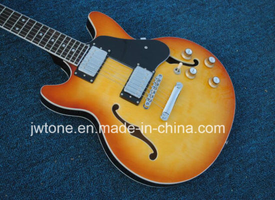 Honeyburst Hollow Body Es 335 Jazz Electric Guitar pictures & photos