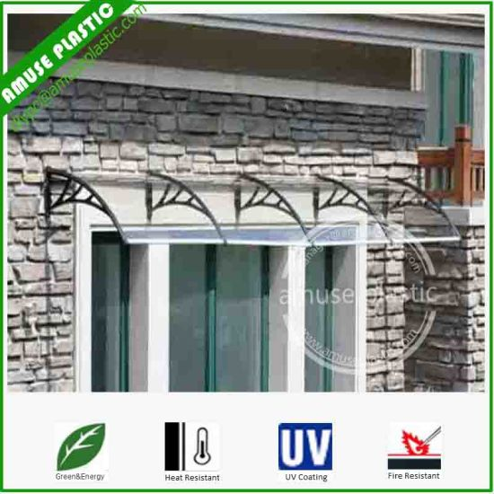 Charmant DIY Waterproof Polycarbonate/PC Window Awning Front Door Canopy Shelter