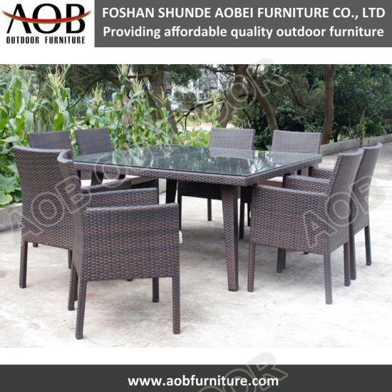 China Luxury Outdoor Furniture Garden Patio Furniture Set Wicker Dining Table Chair China Outdoor Furniture Garden Furniture