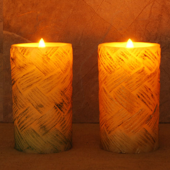 Elegant Classical LED Garden Candle Stakes/Candle Carving/Battery Operated  Flicker Birthday Candle