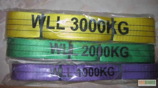 Flat Webbing Sling with Capacity Stripes pictures & photos
