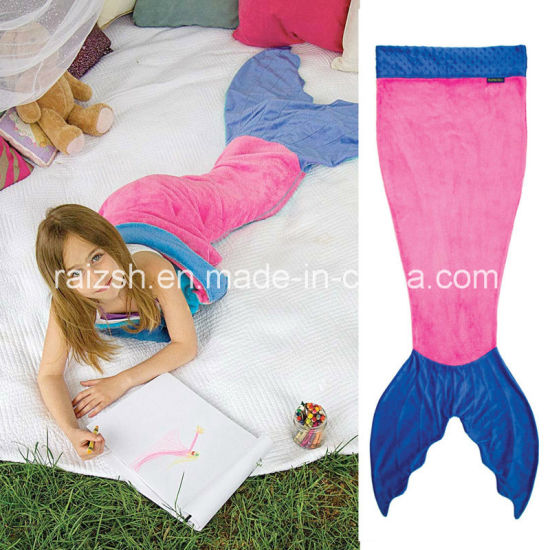 Mermaid Tail Double Flannel Sleeping Bag for Children Baby Blanket pictures & photos