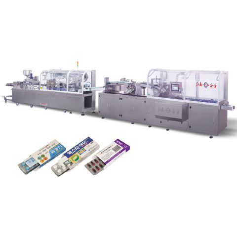Automatic Tablet/Capsule/Vials Blister Packing and Cartoning Line