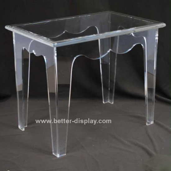 Modern Clear Acrylic Squre Dining Table (BTR-Q7003)