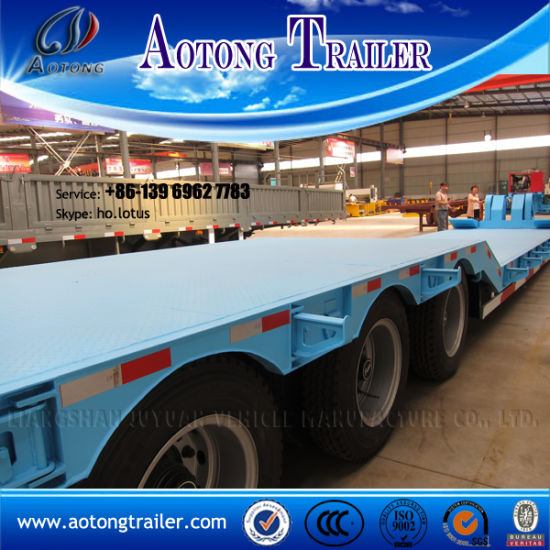 4 Axles Heavy Duty Low Bed Trailers for Sale pictures & photos