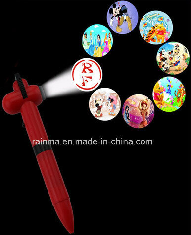 8 Design Light Projector Ball Pen for Kids Promotion pictures & photos