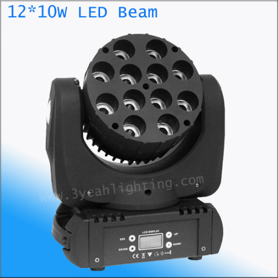 Professional Stage Lighting 12*10W 4in1 LED Head Moving Beam pictures & photos