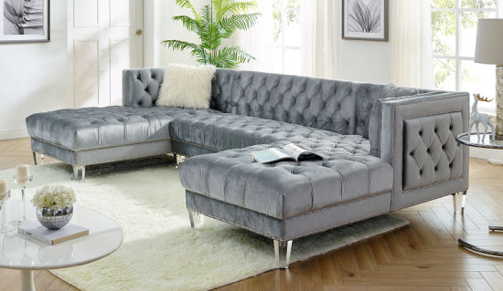 China Corner Group Modern Sofa Set 3pcs Sectional Sofas Sectionals Living Room Furniture Modern China Sofa Chaise