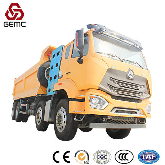 Gas Fuel Heavy Tipper Truck 380HP 40 Ton Payload Construction