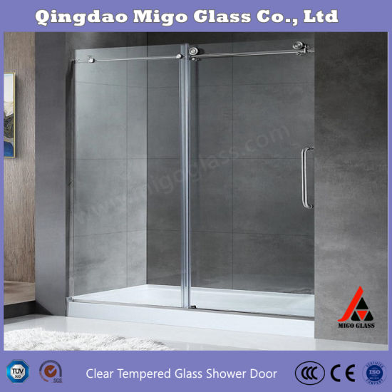 China 1 4 Inch 3 8 Inch 1 2 Inch Tempered Glass Shower Door Single Sliding Frameless Shower Door Glass Shower Panel Shower Screen Shower Room China Shower Glass Shower Doors