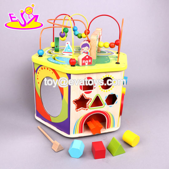 China New Hottest Intelligent Baby Activity Center Wooden Best Toys
