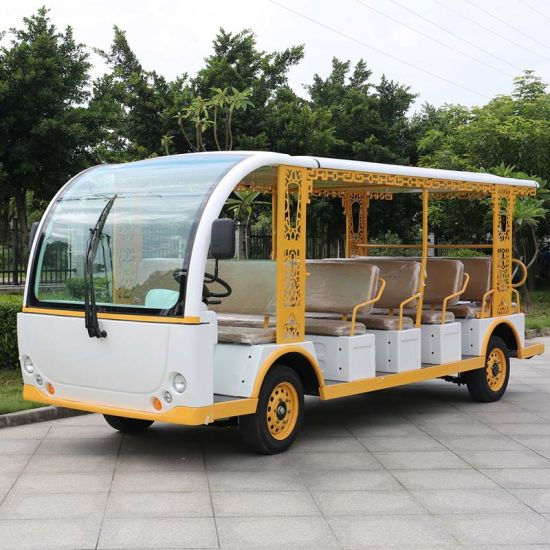 23 Passenger Electric Sightseeing Resort Bus for Tourist (DN-23) pictures & photos
