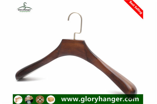 Gloryhanger Rubber Cloth Hanger and Custom Luxury Wood Coat Hangers pictures & photos