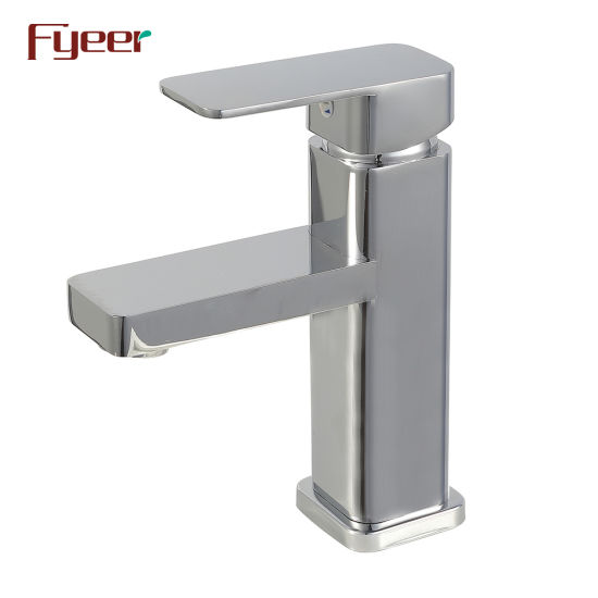 Fyeer Cheap Brass Chrome Plated Bathroom Basin Faucet