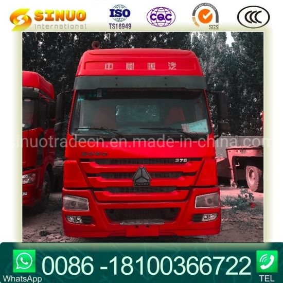 Used 371HP/375 6X4 Sinotruk HOWO 10tyres Tractor Truck Heavy Duty Truck Cargo Truck Trailer Head Tractor Head Truck Hot Sale at Africa