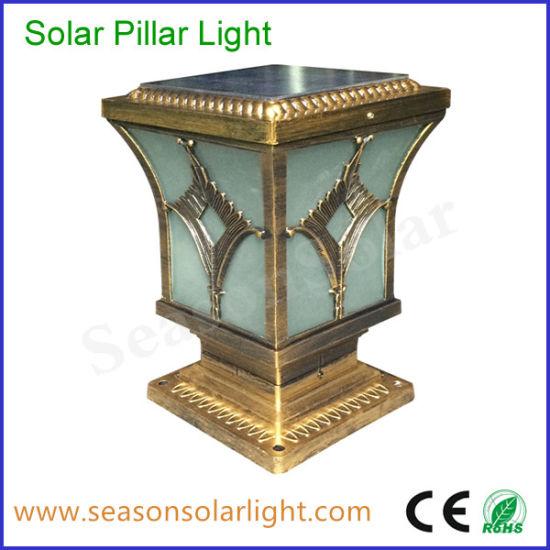 Factory Supply Solar Product 5W LED Solar Pillar Light for Garden Gate Lighting Lamp