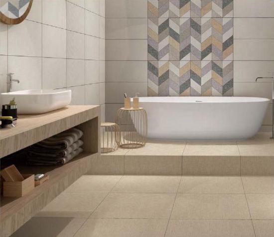 China Grey Glazed Non Slip Floor Tile For Bathroom China Tiling Tile