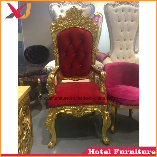 Luxury Gold Throne Sofa King Queen Chair for Wedding Event Banquet Dining pictures & photos