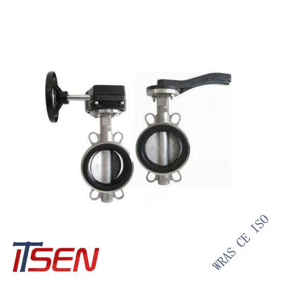 Pn10/16 DIN Standard Stainless Steel Wafer Type Butterfly Valve