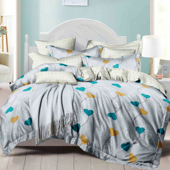 QUILT SET LUXURY  SOFT BRUSHED MICROFIBER  3 Pc DUVET FITTED SHEET