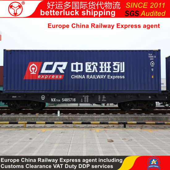 Spain DDP Cargo Shipping including Customs Clearance Duty FOB Shenzhen China Railway Express pictures & photos