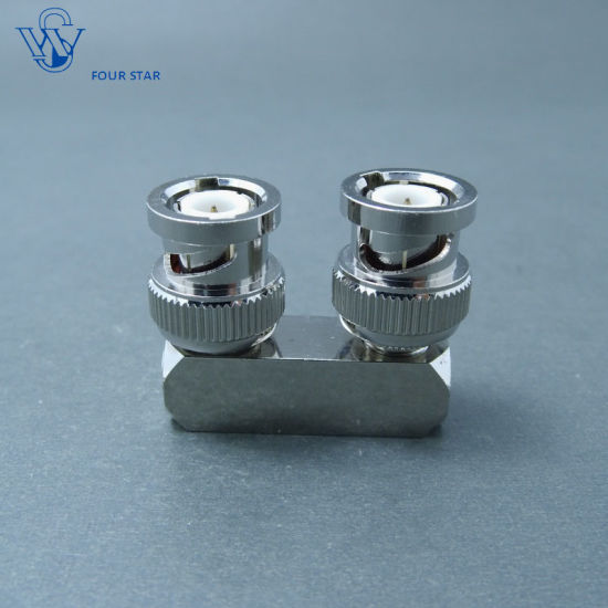 """Set of 2 x 12/"""" BNC Male to Male and BNC Female Bulkhead RF Coax Cable Adapter US"""