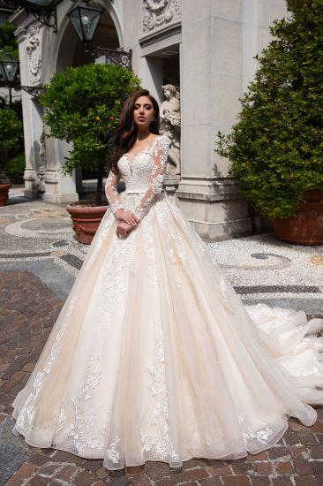 China Amelie Rocky 2018 Full Sleeve Sheer Lace Bridal Wedding Dress ...