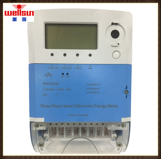 Smart Meter Three Phase Four Wires RF Meter