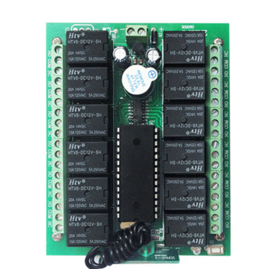 China Inching/Self-Lock/Interlocked 12V 12channel RF 433MHz /315MHz