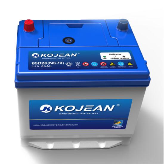 Manufacturer Sealed Mf 65D26 12V 60ah Maintenance Free Lead Acid Auto Vehicle Car Battery