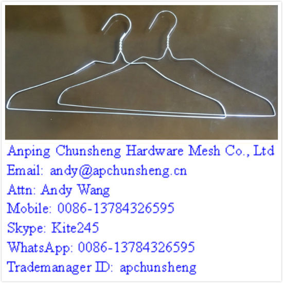 Wholesale Laundry Galvanized Coated Metal Wire Clothes Hangers