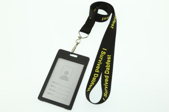Multi Color Customized Nylon Lanyard with ID Card pictures & photos