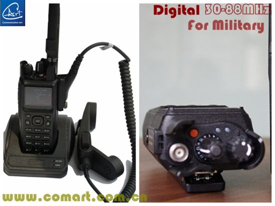 Military Low VHF Handheld Radio Transceiver in 37-50MHz for Military
