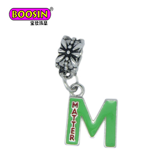 Fashion Accessories Silver Plated Enamel Letters Europeancharms Jewellery pictures & photos