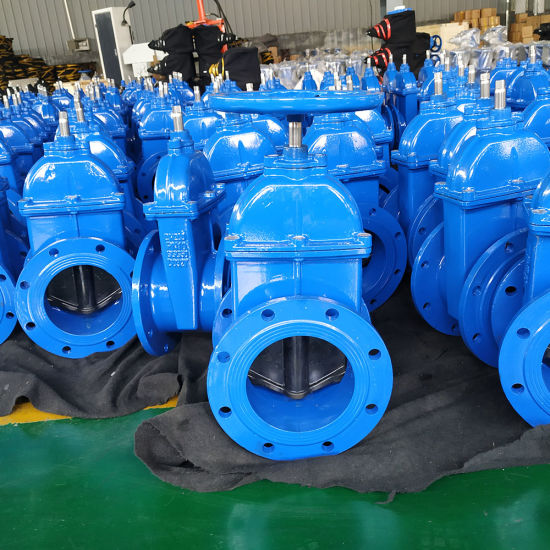 Cast Iron Ductile Iron Flange BS 5163 Non-Rising Stem Resilient Seated Sluice Gate Valve for Water Supply System