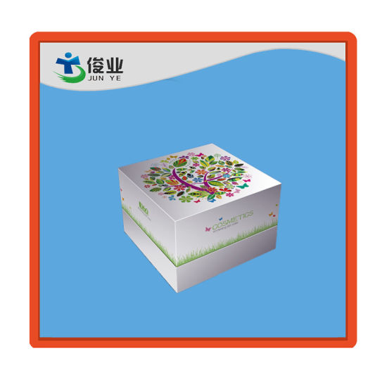 White and Green Cosmetics Box with Flower Trees