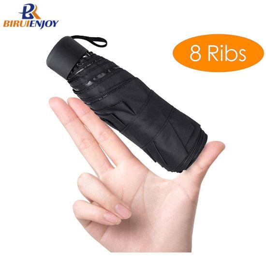 High Quality 5 Folding Small Parasol Mini Travel Umbrellas for Sun Rain, Windproof, Lightweight for Men Ladies